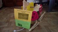 """Cavalinho """"Valente"""" de John Wesley faz visita aos alunos do Izabela Hendrix"""