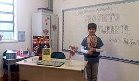 Alunos do 4º ano iniciam nova atividade do Projeto Leiturarte