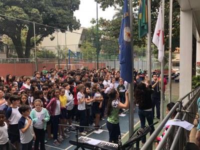Colégio promove assembleia em celebração ao Dia do Estudante