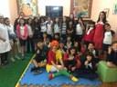 Visita de personagens de Monteiro Lobato marca Dia do Livro Infantil no Colégio